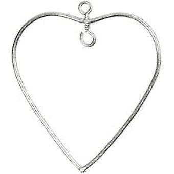 6 Pequenos Corações de Arame Pendurado para Decoração - 6cm