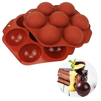 Silicone Half Ball Sphere Cake Mold Chocolate Cookie Ice Candy Bake Mould DIY