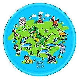 Pvc Toy Water Spray Pad And Summer Lawn Playing(Blue Dinosaur)