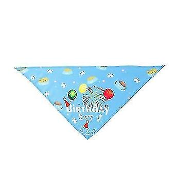 Huisdier verjaardag hoed speeksel handdoek driehoek sjaal huisdier accessoires (blauw)