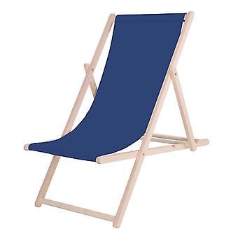 Chaise de plage pliable – 124x58 cm – Bleu Marine