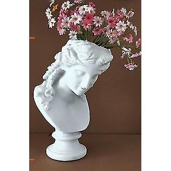 Kreativ harpiks imitasjon skulptur hode-gips vase