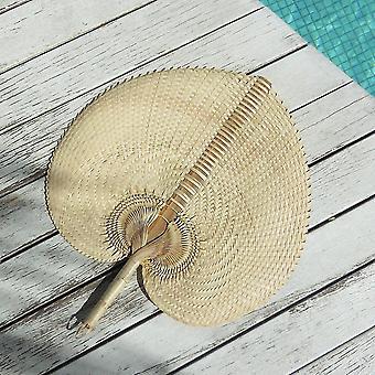 Ventilateur de pailles de palmier tissée à la main