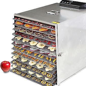 1000w-12 capas secador de frutas y máquina de distribución deshidratadora de alimentos