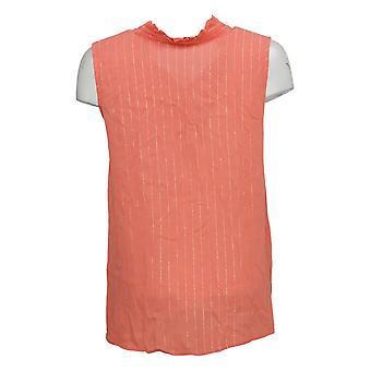G By Giuliana Women's Top Summer Shine Woven Tank Pink 650879