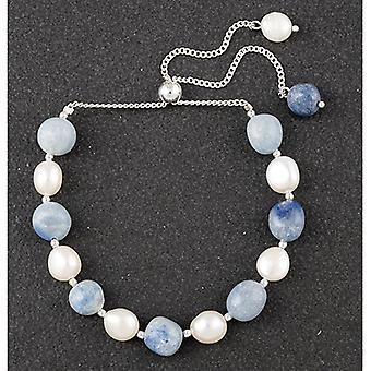 Bracelet d'amitié Lapis Lazulli SP Perle d'eau douce