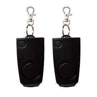 Aionyaaa Anti-theft Panic Attack Alarm Loud Alarm Equipment Personal Safety Security Keychain Black