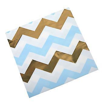 Pattern Works - Serviette Bleu Chevron