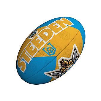 Steeden NRL גולד קוסט טיטאנים תומך 2021 רוגבי ליג כדור צהוב/ כחול