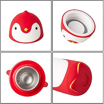 Penguin Stainless Steel Vacuum Thermos Travel Mug Tea Water Bottle Coffee Flask (red)
