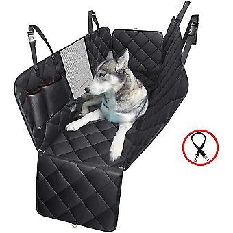 4 في 1 الكلب غطاء مقعد السيارة، 100٪ ماء Scratchproof الكلب أرجوحة مع نافذة شبكة كبيرة، دائم غيرlip الكلب مقعد الغطاء، الحيوانات الأليفة الكلب المقعد الخلفي غطاء برو