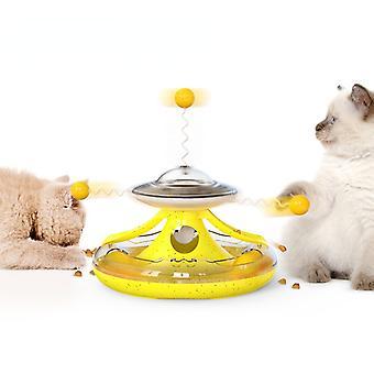 Áldott Macska Lemezjátszó Track Ball Szélmalom Szivárgó Élelmiszer Macska Játékok Funny Cat Stick