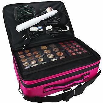 Makeup Train Case 3 Layer Multi Functional Professional Makeup Bag Grand Make Up Artist Box Cosmetic Organizer