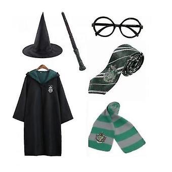 Гарри Поттер 6pc Набор Косплей Причудливое платье Капский плащ Костюм