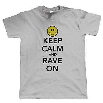 Keep Calm and Rave On, Camiseta para Hombre, Old Skool Rave DJ Festival