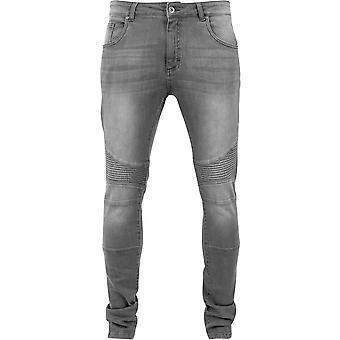 Cinza Urban Classics magro cabe Biker Jeans