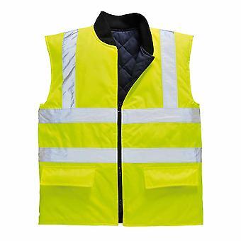 sUw Mens Hi-Vis Safety Reversible Workwear Bodywarmer