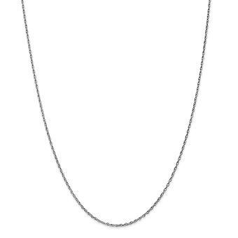 1.5mm 14k hvitt gull anheng tau - lengde: 16-24