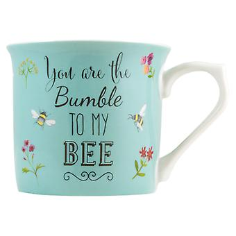English Tableware Co. Bumble to my Bee Mug, Blue