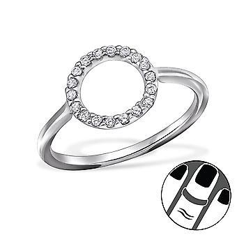 Circle - 925 Sterling Silver Midi Rings - W29449x