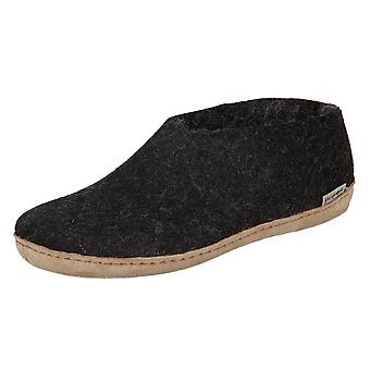 Glerups DK Shoe Charcoal Lammwollfilz A0200 home winter women shoes