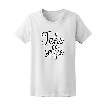 Take Selfie Photography Art Graphic Tee - Image by Shutterstock