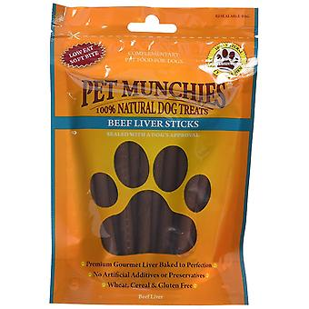 Pet Munchies Dog Treat Beef Liver Sticks, 90g, Box of 8