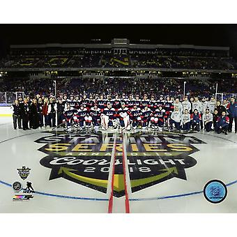 Washington Capitals Team Sit Down 2018 NHL Stadium Series Photo Print