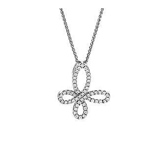 Orphelia Silver 925 kedja med hänge Elegant form med zirkonium ZH-7350