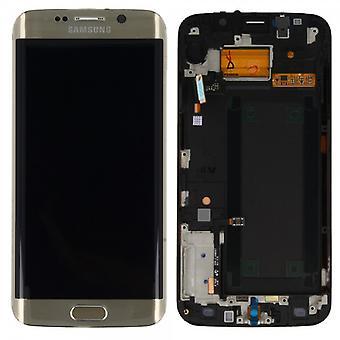 Дисплей LCD полный набор сенсорного золота для Samsung Галактика S6 края G925 G925F