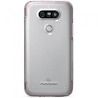 LG G5 PUREGEAR SLIM SHELL PRO SERIES CASE - CLEAR/PINK