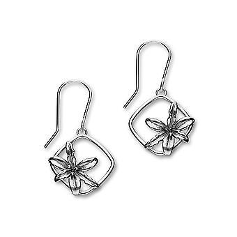 Sterling sølv tradisjonell fødselen blomst formet kan Design par øreringer