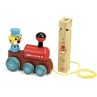 Vilac Train Pull Toy with Whistle