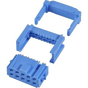 TE Connectivity Socket strip + strain relief Contact spacing: 2.54 mm Total number of pins: 40 No. of rows: 2 1 pc(s)