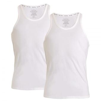 Calvin Klein-ID Baumwolle Tank Top, 2er-Pack, weiss, XL