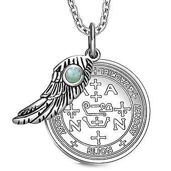 大天使ザドキエル印章の魔法の翼のお守り