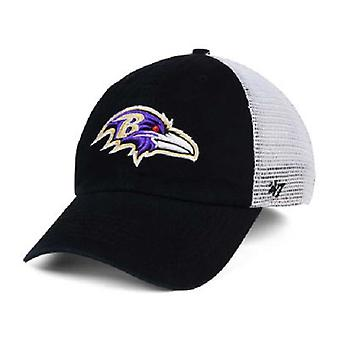 Baltimore Ravens NFL 47 Brand Mesh Closer Stretch Fitted Hat