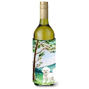 Under the Tree Bichon Frise Wine Bottle Beverage Insulator Hugger