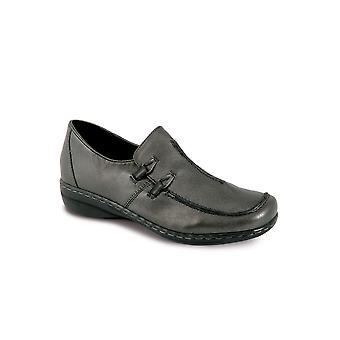 Niski obcas komfortowe zwykły czarny granatowy cyny buty damskie wsuwane buty damskie