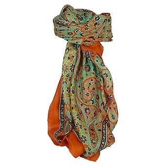 Clasic Paisley pătrat eșarfă Mulberry Silk Balay Marigold de pashmina & Silk