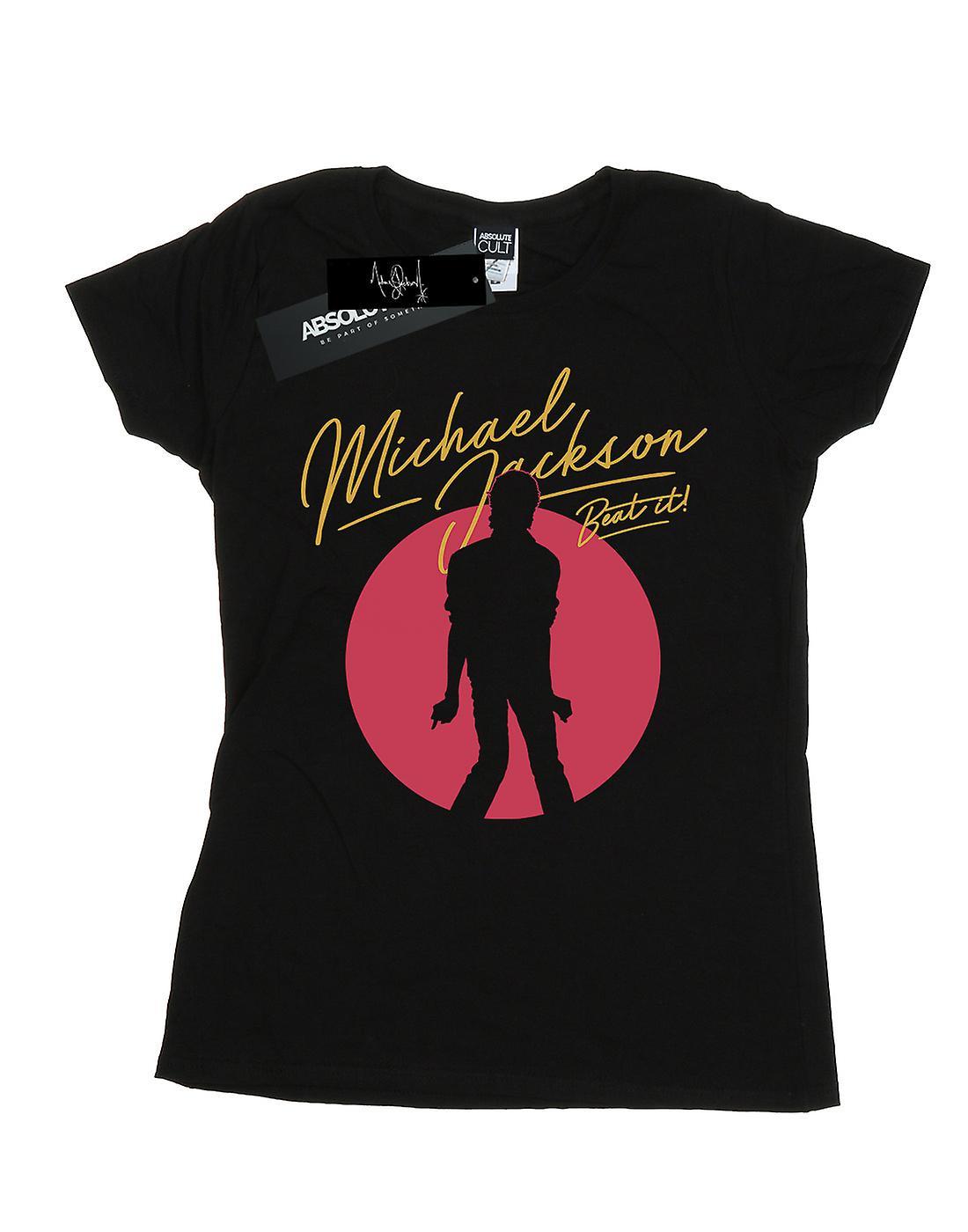 Michael Jackson Women's Beat It Red Circle T-Shirt