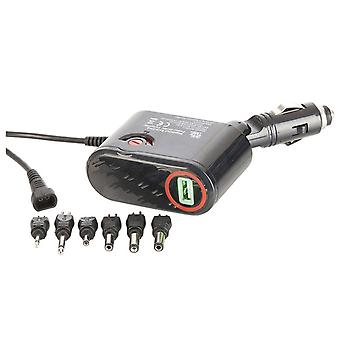 12VDC 3A Car Power Adaptor w/ USB Outlet