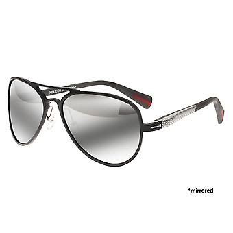 Breed Dorado Titanium Polarized Sunglasses - Black/Black