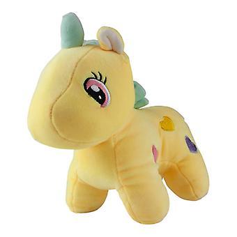Unicorn with hearts, stuffed toys/stuffed animals-yellow