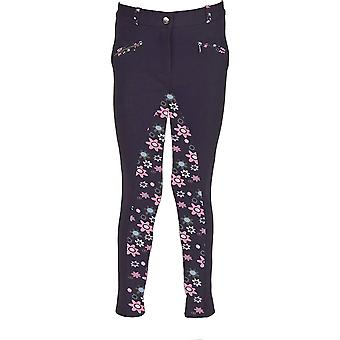 HyPERFORMANCE Childrens/Kids Wavy Flower Power Print Jodhpurs