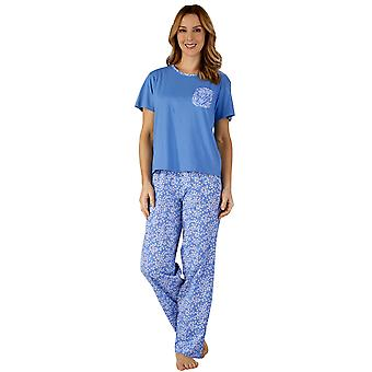 Slenderella PJ3133 Women's Cotton Jersey Floral Pajama Pyjama Set
