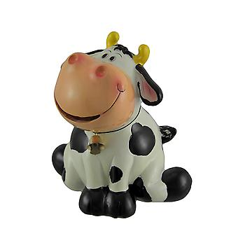 Belle the Black and White Hungry Cow Coin Bank