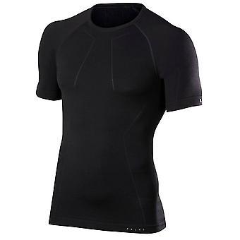 Chemise à manches courtes laine Falke Tech - noir