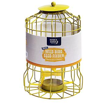 Natures Market BF007S Seed Wild Bird Feeder with Squirrel Guard