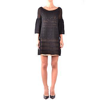Alberta Ferretti Ezbc027008 Women's Black Cotton Dress